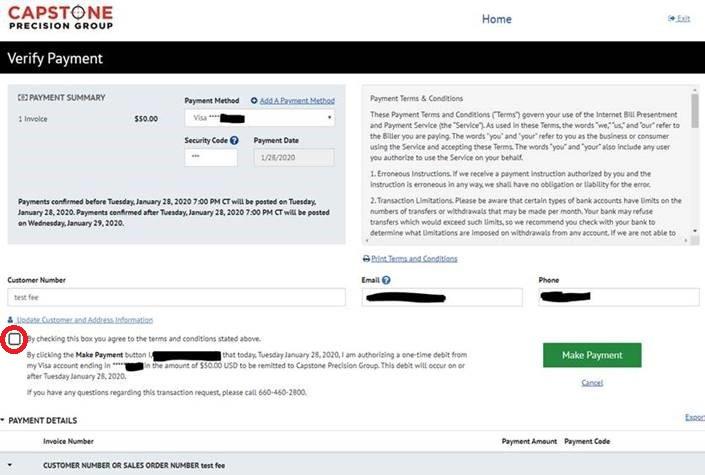 Payment Portal Verification