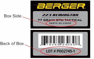 223 label example